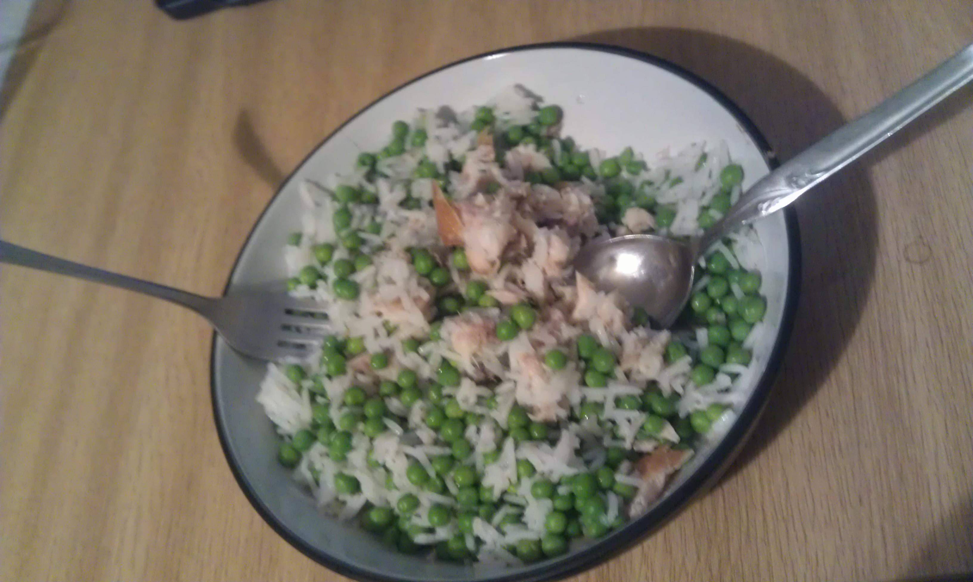Peas, Tuna, Rice